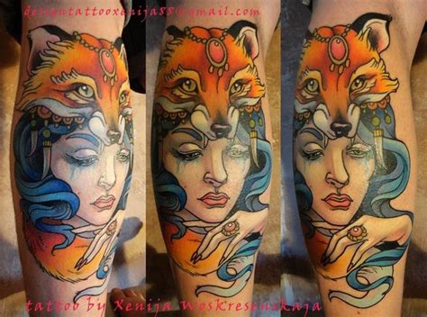 fox head tattoo 1000 ideas about indian tattoos on
