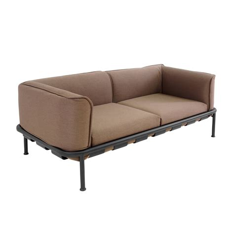 sofa 2 sitzer mit ottomane dock 2 seater sofa by emu connox shop