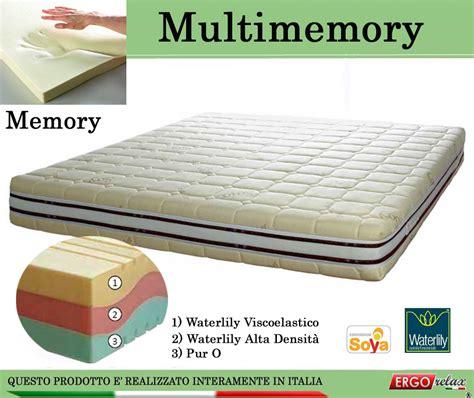 materasso memory waterlily materasso memory mod multimemory singolo da cm 80