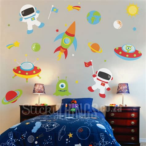 space wall stickers outer space vinyl wall sticker stickythings co za