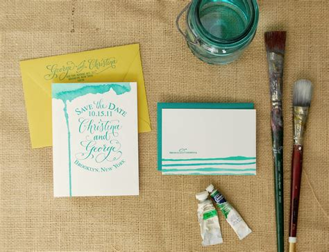 watercolour cards diy diy watercolored save the dates thank you cards