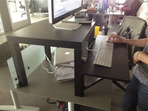 Standing Desk Improvisation Inspiration With Little Standing Desk On Top Of Regular Desk