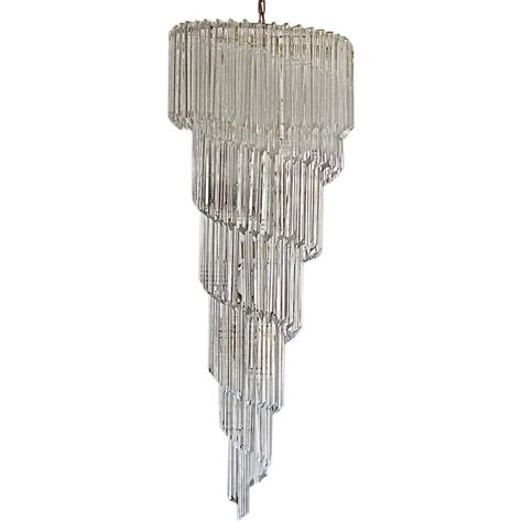 Spiral Chandeliers Outstanding Large Murano Crystal Spiral Chandelier By