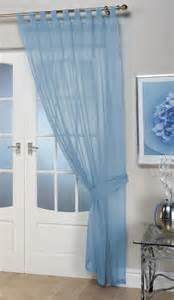Curtain Tension Rods Voile Panels Opaque Blue Tab Top Curtain Panel