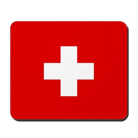 Mouse Pad Switzerland swiss cross flag mousepad by tinyninjas