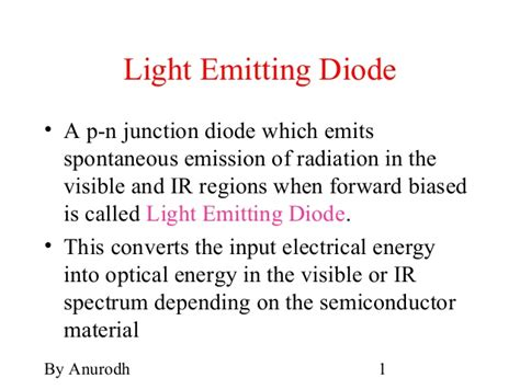 light emitting diode slideshare led pin diode
