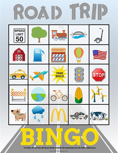 printable road trip games for preschoolers 11 best car bingo images on pinterest road trip bingo