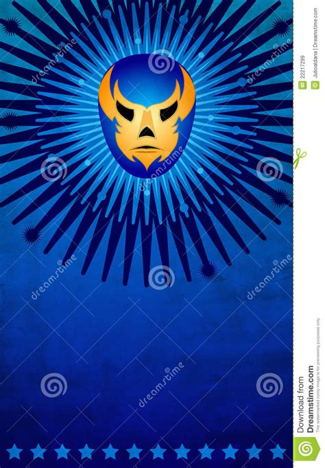 Mexican Wrestler Mask Poster Card Template Stock Illustration Image 22217299 Lucha Libre Poster Template