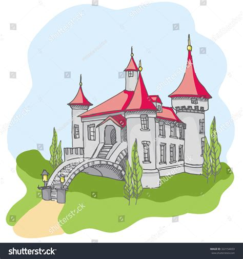 doodle kingdom how to make noble tale castle stock vector