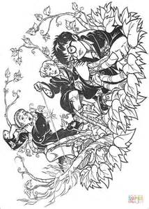 free harry ron and hermione coloring pages halloween ron weasley hermione granger and harry potter coloring