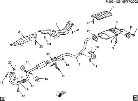 2002 chevy cavalier exhaust system diagram pontiac sunfire exhaust system