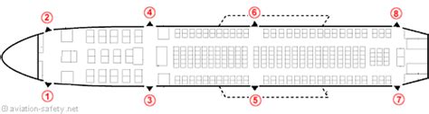 dc10 seating plan aviation safety network gt airline safety gt emergency exits
