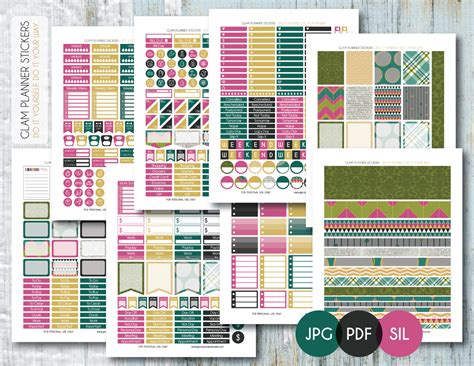 free printable planner set free monthly printable planner stickers set