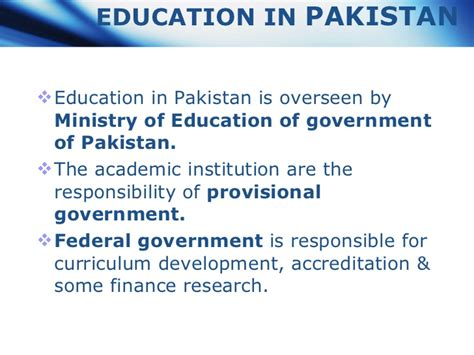 thesis on education in pakistan education system in pakistan