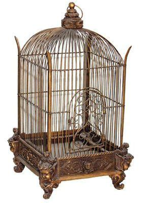 decorative birdcage victorian style bird cage bronze