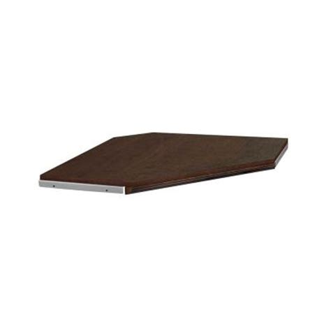 Closetmaid Corner Shelf Closetmaid Impressions 28 In Chocolate Corner Shelf Kit
