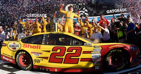 team penskes joey logano captures   daytona  fox sports