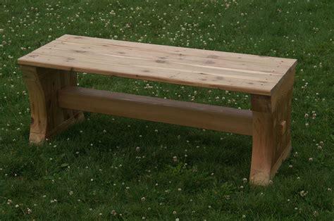 cedar bench cedar bench by alan lumberjocks com woodworking