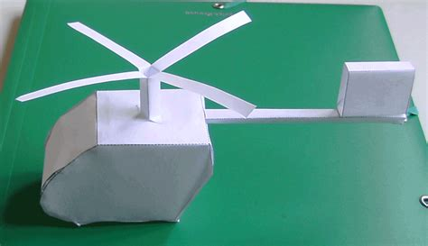 A Paper Helicopter - how to build a paper helicopter
