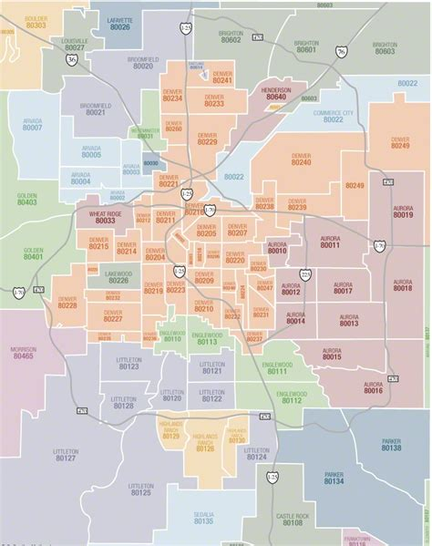zip code map el paso county maps that help you understand denver and colorado cities