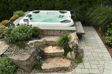 Backyard Spa Landscaping Ideas Best 25 Backyard Tubs Ideas On Pinterest Tub Patio Tubs And Backyard With Tub