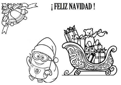 Imagenes De Navidad Para Colorear De Los Minions | patricienta y sus mikos minions en navidad para colorear