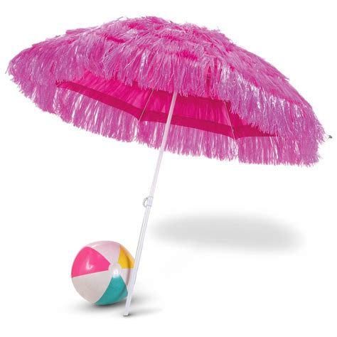 6' Hot Color Tiki Umbrella   156285, Patio Umbrellas at