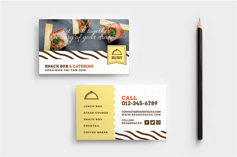 catering service business card template psd ai vector