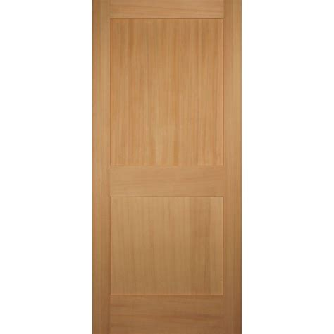 Hemlock Interior Doors Builder S Choice 36 In X 80 In 2 Panel Shaker Solid Hemlock Single Prehung Interior Door