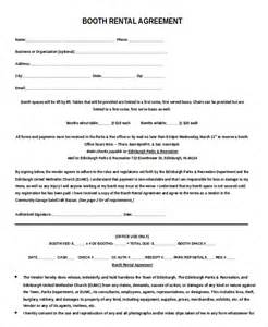 rental contracts templates free 13 booth rental agreement templates free sle