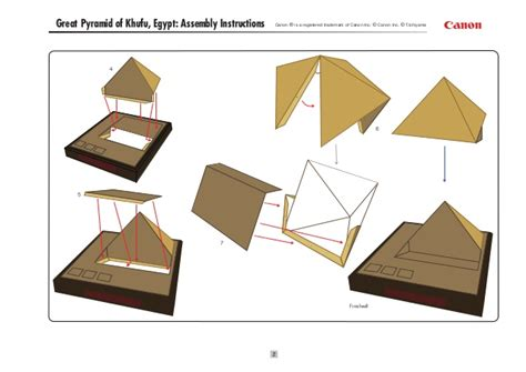 Papercraft Pyramid - papercraft pir 225 mide