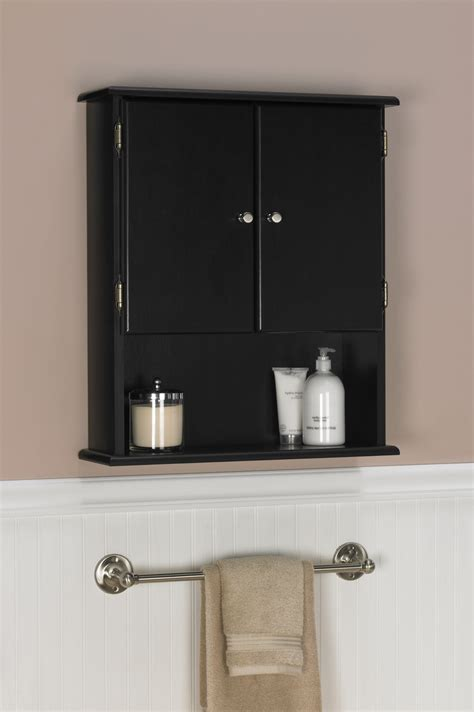 Bathroom Cabinets And Shelves Ameriwood Espresso Bathroom Wall Cabinet 5305045