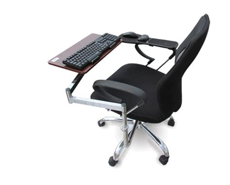 Chair Mount Keyboard Tray free shipping computer chair keyboard tray mount laptop chair bracket keyboard bracket