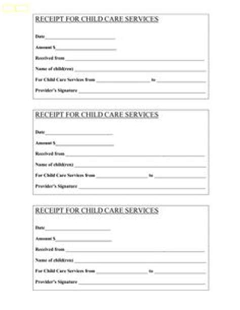 nanny receipt template weekly receipts for daycare free printables this is an