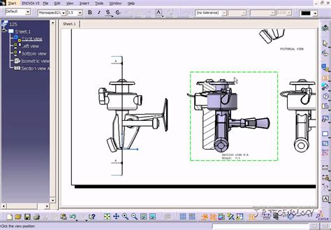 Catia V5 Tutorial 125 Section Views Youtube