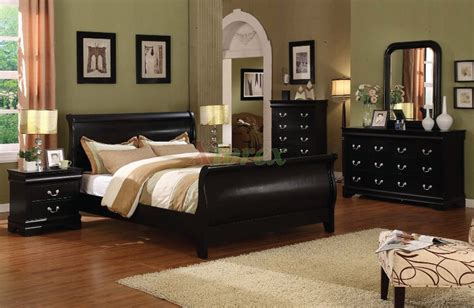 louis phillip sleigh platform bedroom furniture set  xiorex
