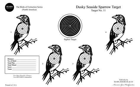 printable pigeon targets dusky seaside sparrow brian higbee