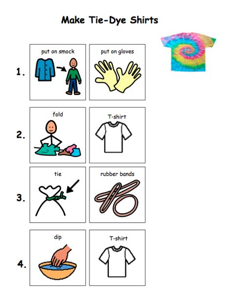 printable directions how to tie a tie rainy day craft tie dye t shirts the autism helper