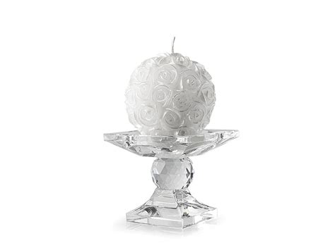 candele hervit portacandela in cristallo con candela oggettistica
