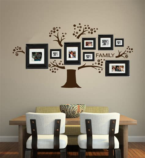 wall decor stickers shopping tree vinyl wall decal photo display familia tree decals