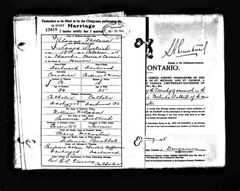 Are Marriages Record In Canada Buchheit History