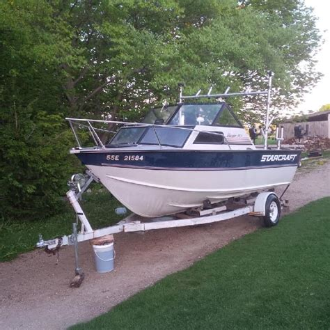 aluminum fishing boat for sale ontario 191v starcraft islander aluminum boat motor trailer for