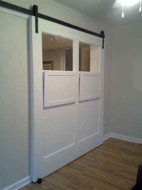 white sliding interior barn door contemporary atlanta