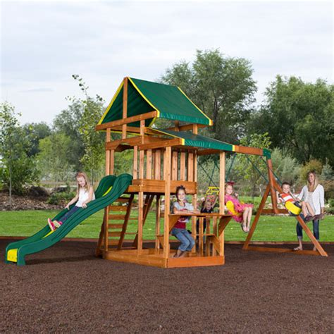 backyard discovery weston cedar swing set specs price