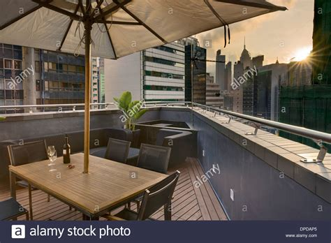 serviced appartments hong kong roof terrace in v serviced apartments causeway bay hong kong stock photo royalty