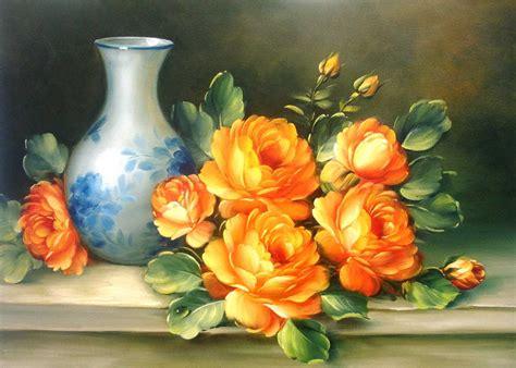 cuadros de rosas blancas cuadros al oleo de flores ideas modelos pintar rosas