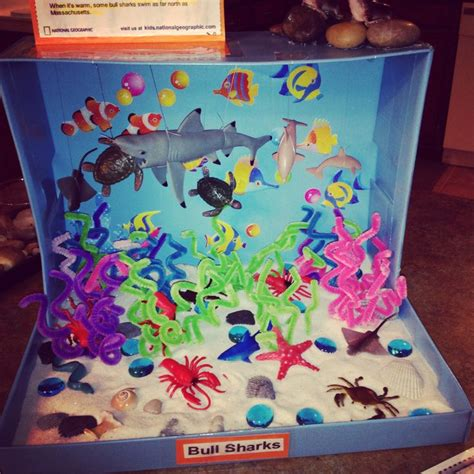 free printable ocean diorama shark ocean diorama aquarium parties pinterest