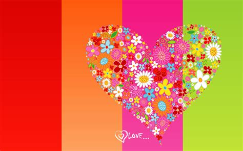 wallpaper flower with heart flower heart wallpaper 2534