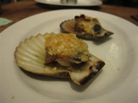 Kerang Scallop kerang kipas hidup steam bawang putih steamed garlic