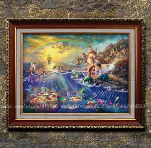 Home Interiors Thomas Kinkade Prints by Little Mermaid Oil Painting Images Amp Pictures Becuo